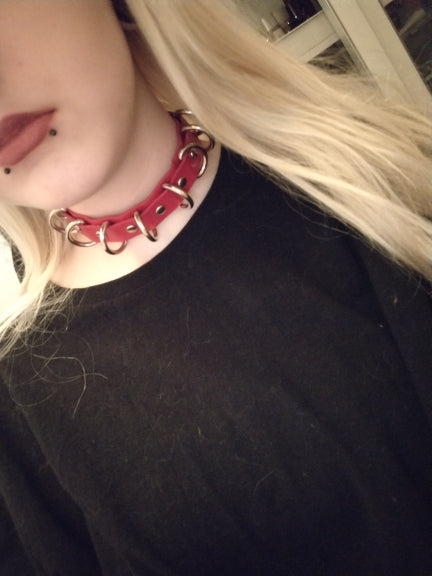 Ring Choker  - Cradle Of Goth