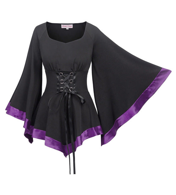 Gothic Enchantress Blouse 3 Corset Shirt / L - Cradle Of Goth