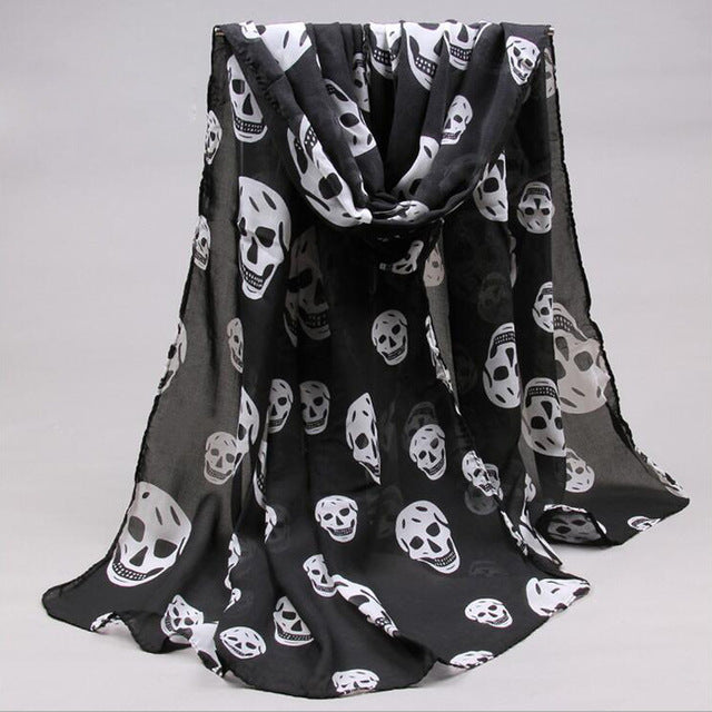Laughing Death Shawl 1 - Cradle Of Goth