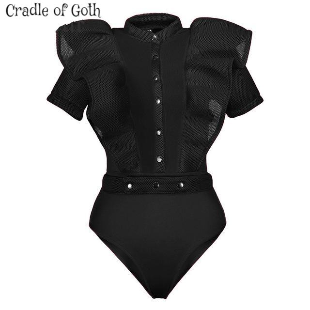 Victorian Bodysuit black / S - Cradle Of Goth