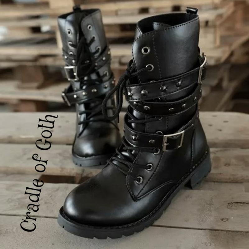 Badass Queen Boots (Vegan)  - Cradle Of Goth