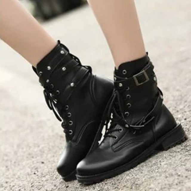 Badass Queen Boots (Vegan) Black / 4 - Cradle Of Goth