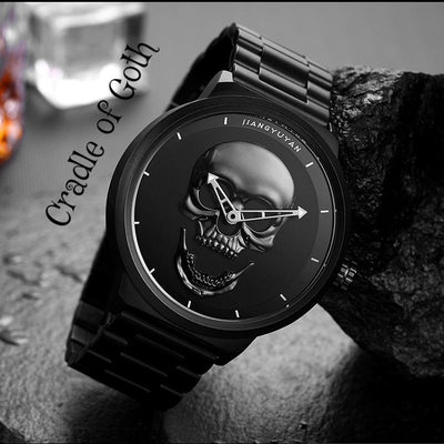 Screaming Skull Watch  - Cradle Of Goth