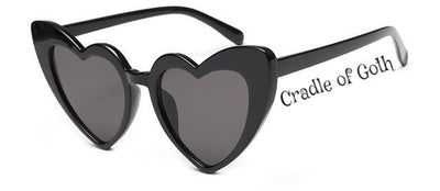 Heart-shaped Sunglasses C1 - Cradle Of Goth