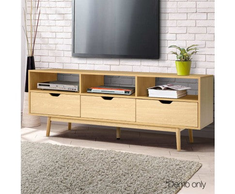 Lowline Entertainment Unit Scandinavian TV Stand Home Cabinet Storage 160cm Natural