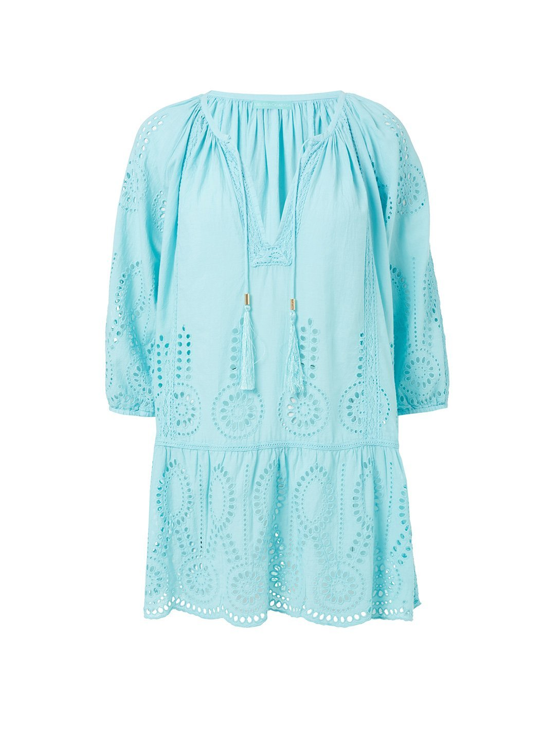 ashley sky embroidered 34sleeve short coverup 2019