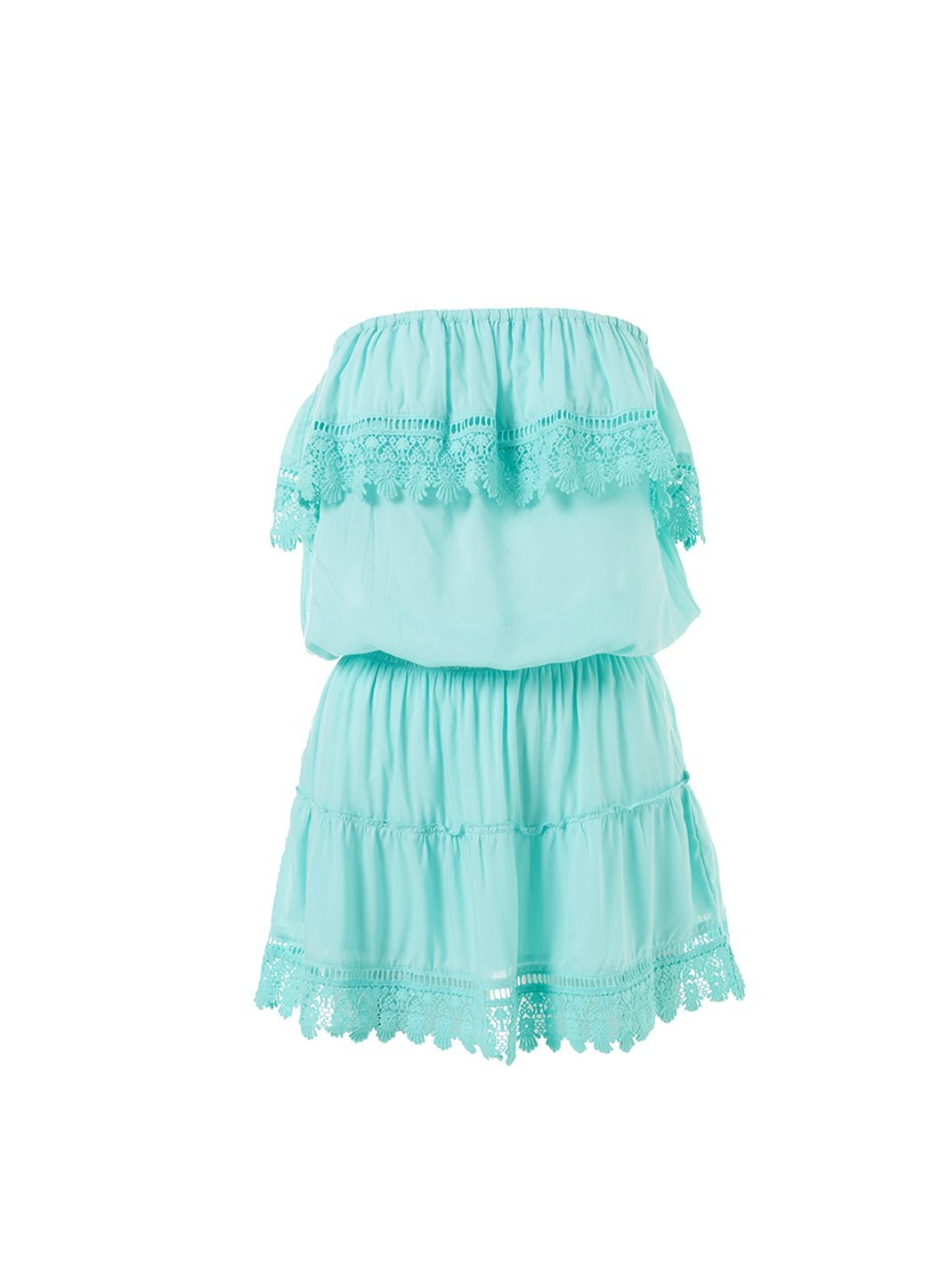 joy sky bandeau embroidered frill short dress 2019
