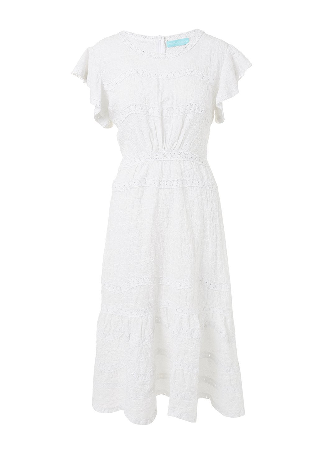 louisa white highneck midi tea dress 2019