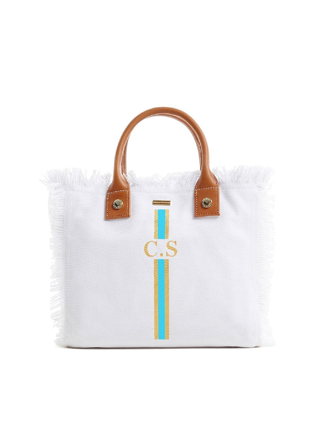 Personalized Porto Cervo Beach Tote White Sky