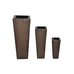 Rattan Brown Plant Pots