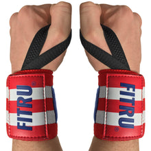 "Load image into Gallery viewer, 18"" Heavy Duty Wrist Wraps with Thumb Loops"