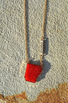 Arkansas Druzy Necklace-Red - The Pink Buffalo,LLC
