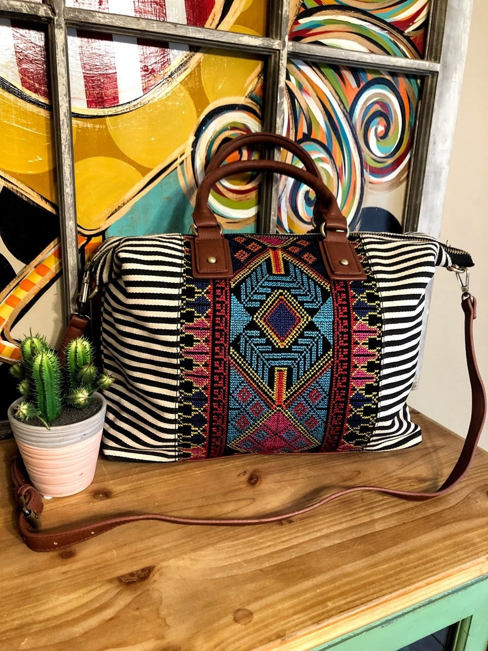 Aztec Duffle Bag - The Pink Buffalo,LLC