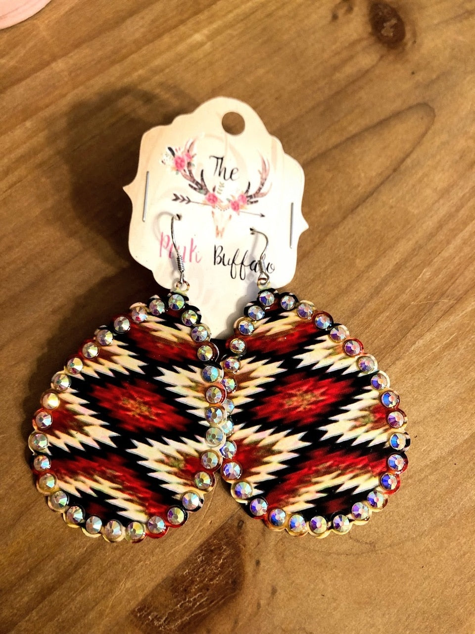 Aztec Zig Zag Earrings - The Pink Buffalo,LLC