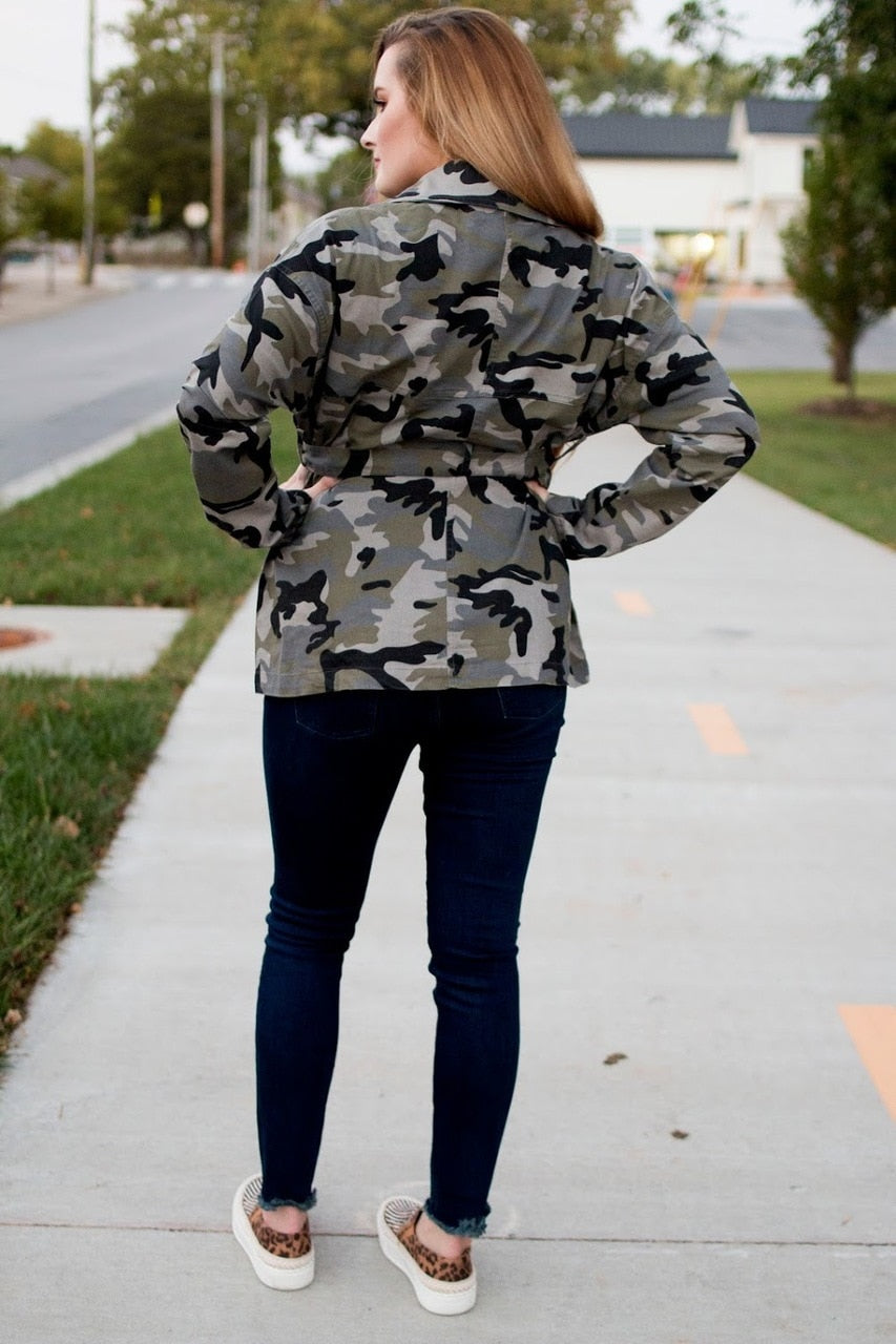 Camo Jacket - The Pink Buffalo,LLC