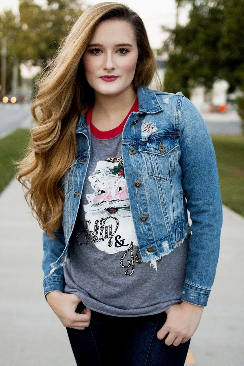 Distressed Denim Jacket - The Pink Buffalo,LLC
