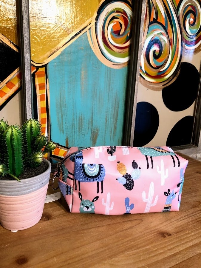 Llama Make-Up Bag-Pink
