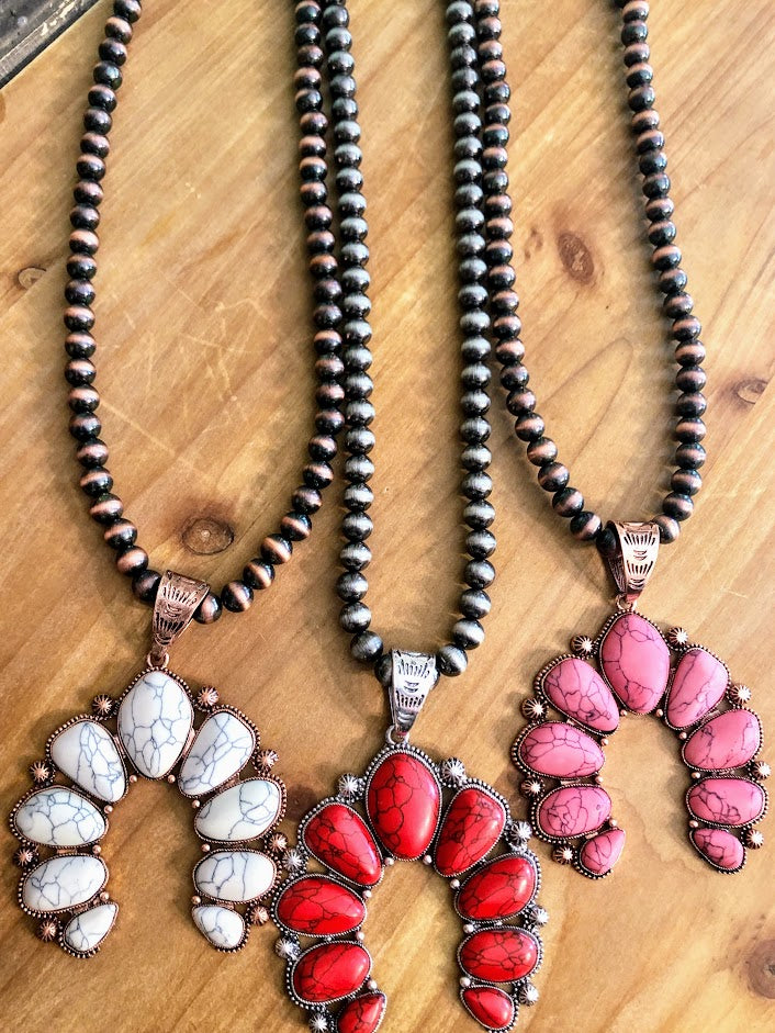 Squash Necklace-Pink