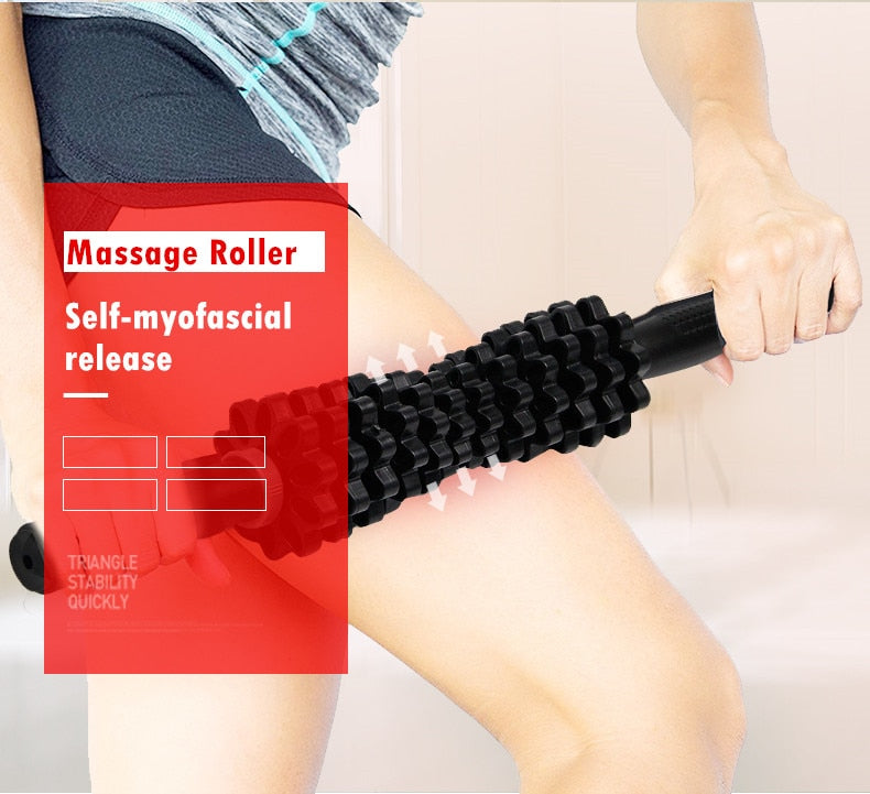 Adjustable Muscle Massage Roller for Hand/Leg/Back/feet - Happy Panda