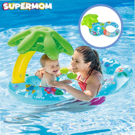 Parent & Kid Swimming Baby Floating Toy with Sunshade Cover - Happy Panda