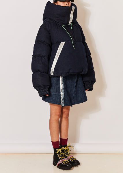 Denim Puffa Jacket