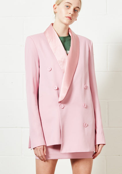 Pink Double Breasted Jacket