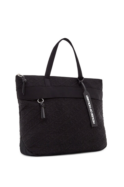'HOH' Black Embroidered Tote