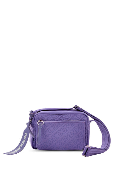 'HOH' Purple Embroidered Cross Body