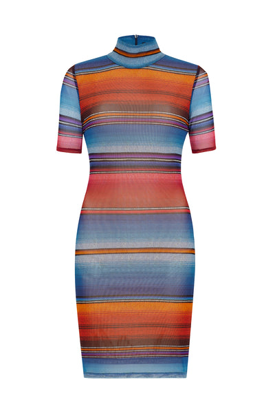 Sunset Stripe Mini Dress