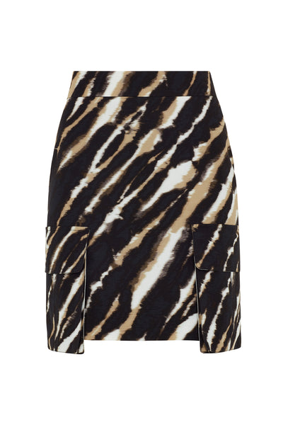 Zebra Tie Dye Mini Skirt