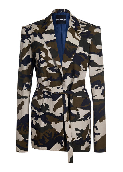 Camoflage Tailored Cotton Jacket