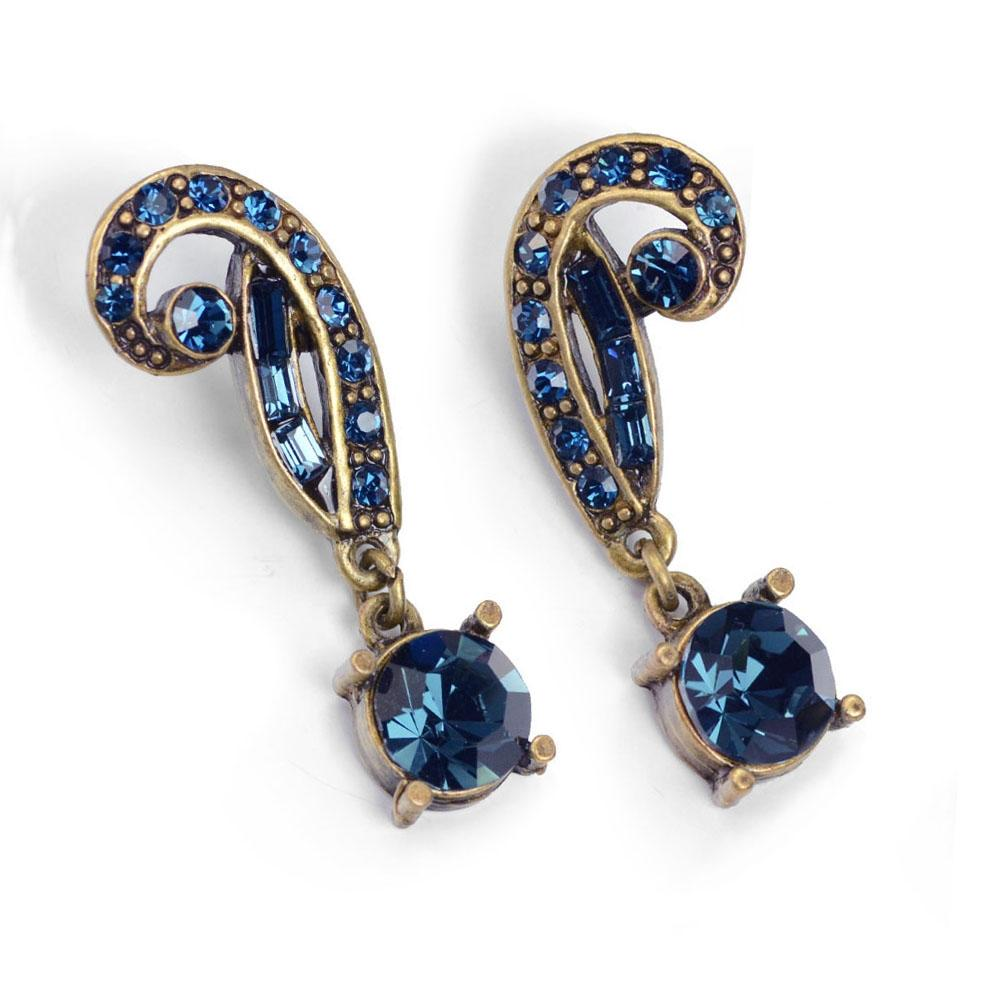 Art Deco Vintage Hollywood Crystal Earrings E1102 - sweetromanceonlinejewelry
