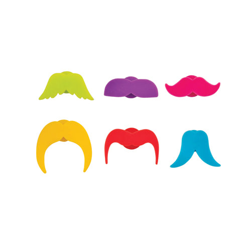 MUSTACHE YOU A QUESTION CHARMS (set of 6)