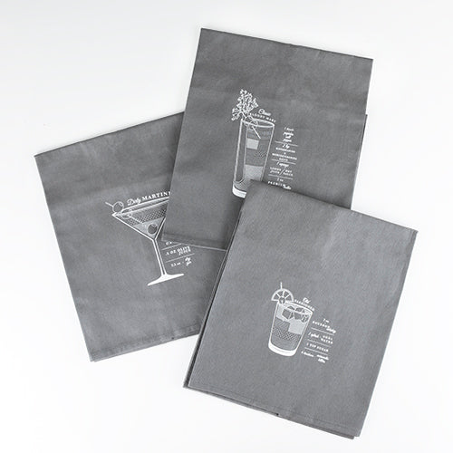 JEEVES COCKTAIL TOWELS (set of 3)