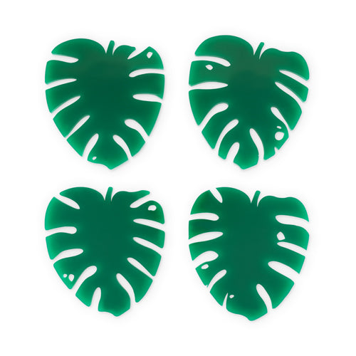 LUSH MONSTERA COASTERS (set of 4)