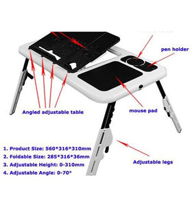Laptop E-Table Portable Foldable