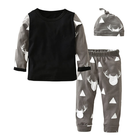 Image of THE OH DEER OUTFIT (3PC SET) - Elsa Bella Baby
