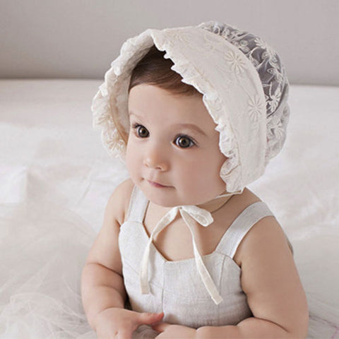 Image of Lucy Lace Baby Bonnet