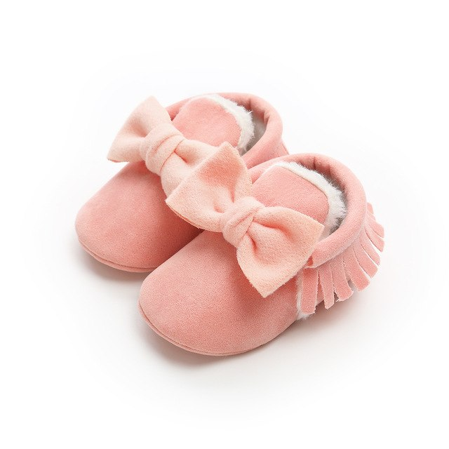 Mighty Moccs with Bowknot Soft Sole