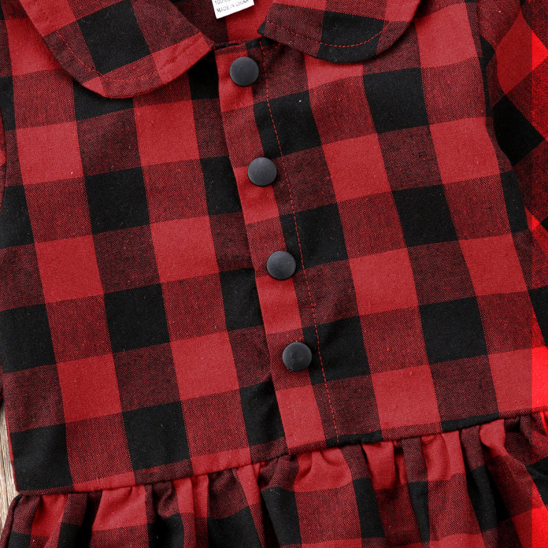 Rebecca Red Plaid Romper Shirt