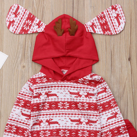 Image of Oh Deer Hooded Two-Piece Outfit