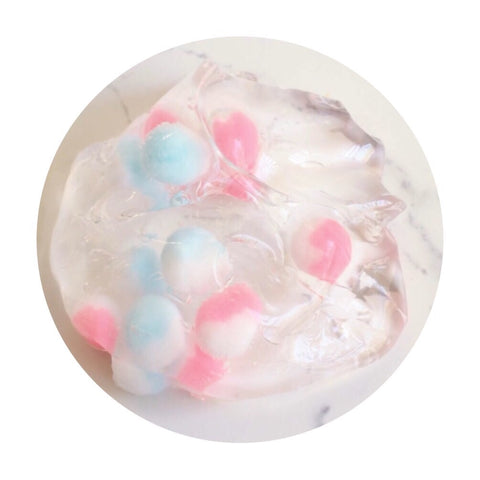 Cotton Candy Boba |Crystal clear slime