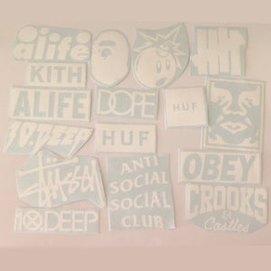 Streetwear Transfer Stickers Pack