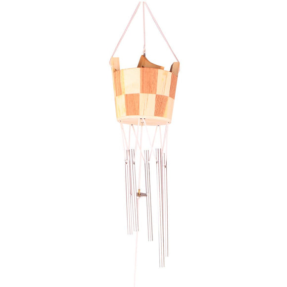 Wooden Bucket Wind Chime with Positive Energy for Home Office Decoration Gifting