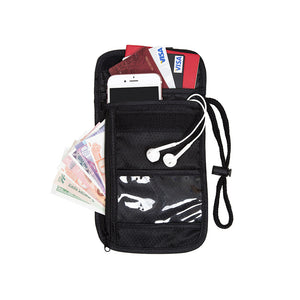 BAGSMART Travel Passport Cover Wallet with Adjustable Strap