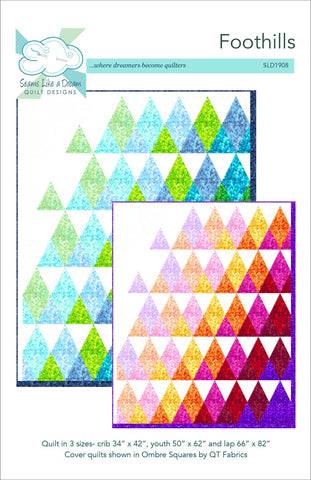 Foothills- a fun triangle quilt pattern