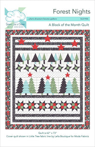 Forest Nights- cover of this 6 month block of the month tree quilt