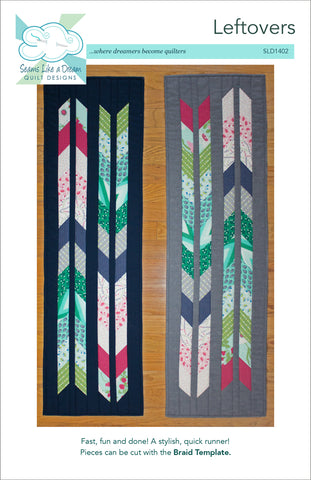 Leftovers- a fun, quick table runner pattern using strips