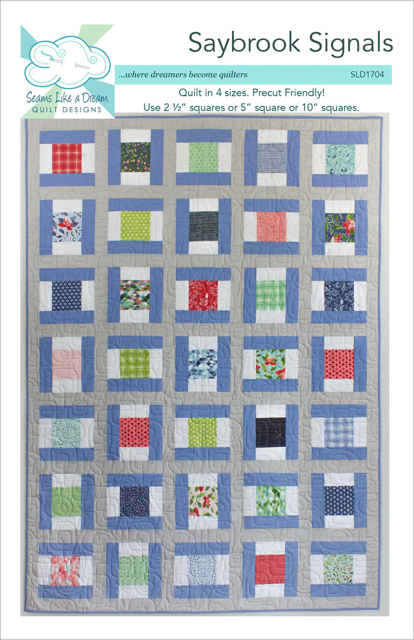 Saybrook Signals- precut quilt pattern using 5 inch and 10 inch squares