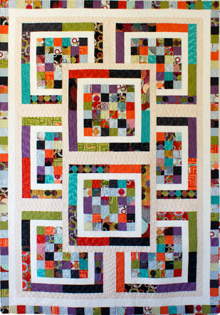Tiger Lily - strip quilt
